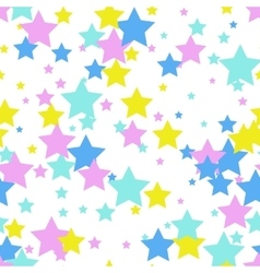 Seamless abstract pattern with stars memphis vector