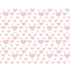 Valentine pale pink seamless polka dot pattern vector