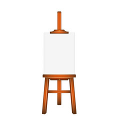 blank art board wooden easel vector image