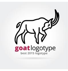 2015 goat logotype isolated on white background vector image