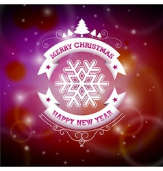 Christmas with typographic design vector