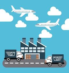 Transport logistics vector