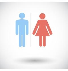 WC single icon vector image