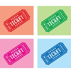 Colourful ticket set vector