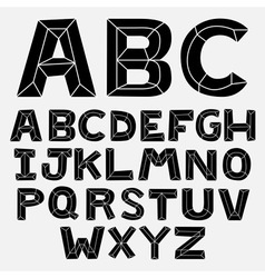 Abc bevel bw vector