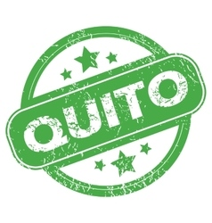 Quito green stamp vector