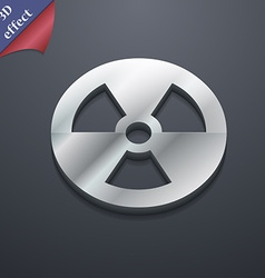 Radiation icon symbol 3d style trendy modern vector