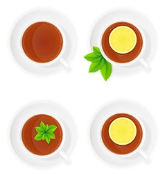 Porcelain cup with tea 02 vector