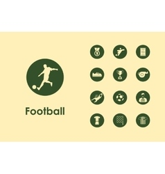 Set of football simple icons vector