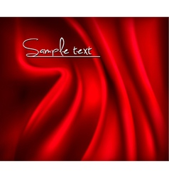 Red satin background vector