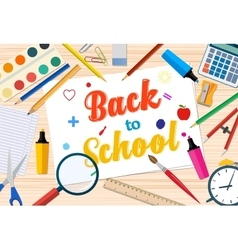 Welcome back to school template with office vector