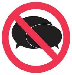 Ban speak sign vector image vector image