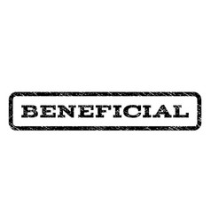 beneficial watermark stamp vector image
