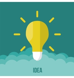 bulb icon with innovation idea vector image vector image