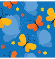 butterfly seamless background vector image vector image