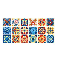 collection of ceramic tiles in vector image