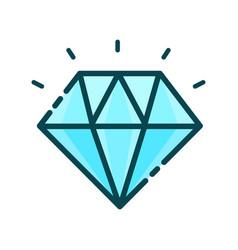 diamond precious stone modern vector image vector image