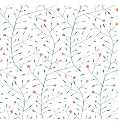 Fine Floral Ornament Seamless Pattern Background vector image vector image