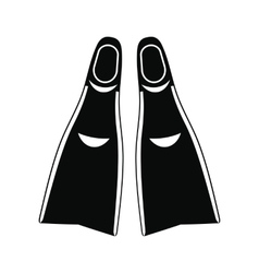 Flippers black simple icon vector image