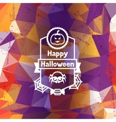 Happy halloween greeting card with badges ang vector