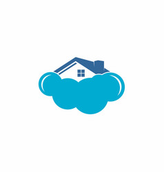 home cloud logo vector image vector image