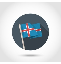 Iceland flag in flat style vector