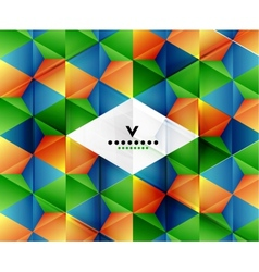 Modern geometric abstract background template vector image vector image
