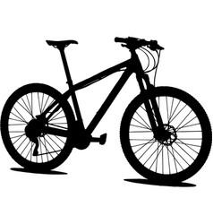 Mtb mountain bike silhouette vector