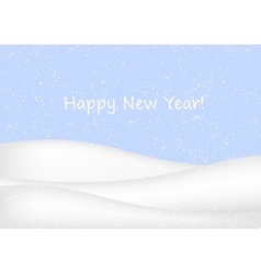 New Year background with snow vector image vector image