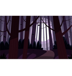 Night forest trail vector