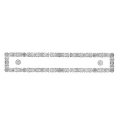 ornate border have design based on a geometric vector image vector image