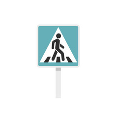 pedestrian road sign icon flat style vector image