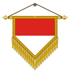 Pennant with the flag of monaco vector