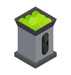 Tennis ball machine icon isometric 3d style vector