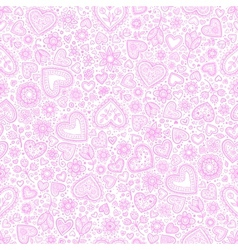 Valentines day watercolor hearts background vector