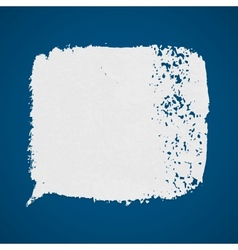White grunge paint spot on blue background vector image vector image