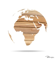 Wooden world vector image vector image