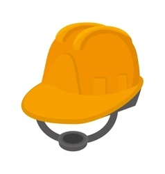 Yellow helmet protecction construction vector image