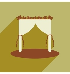 Flat web icon with long shadow wedding arch vector