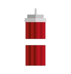 Sauce bottle fast food icon vector