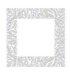 Natural Leaf Border vector image
