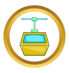 Ski lift gondola icon vector
