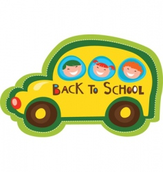 school buss vector image
