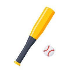Bat and ball for baseball vector