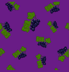 Blackcurrant on lilac background vector