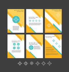 design templates collection for banners vector image