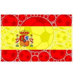 Spain soccer balls vector image