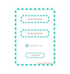 simple eco login form vector image