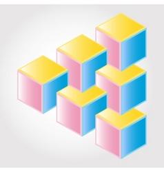 3d blocks vector image vector image
