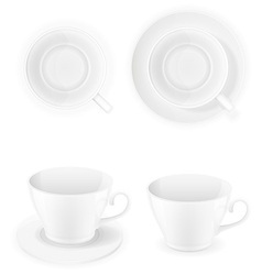 Porcelain cups vector